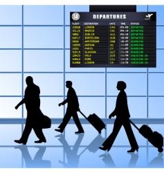 airport set 1 passengers departing vector image vector image