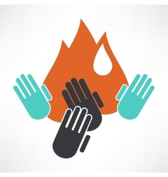 an isolated hand icon vector image vector image