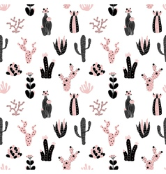 black and pink pattern vector image vector image