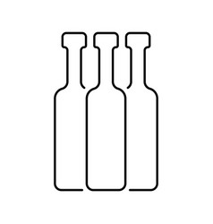 black thin line bottles vector image