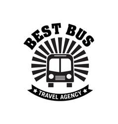 bus trip and trvel tour badge logo vector image