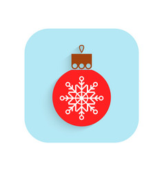 christmas tree ball flat icon holiday symbol vector image