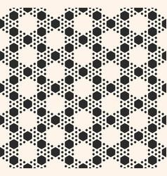 Geometric seamless pattern with hexagonal grid vector
