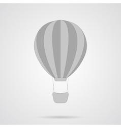 Gray Hot Air Balloon Flat Icon vector image vector image