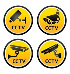 Security camera CCTV signs vector image vector image