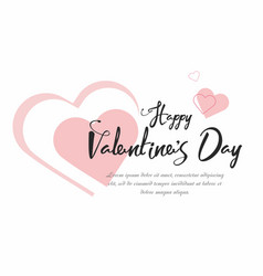 Valentines day party background with pink hearts vector