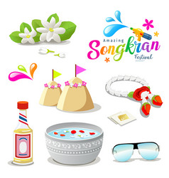 amazing thailand songkran festival collections vector image vector image