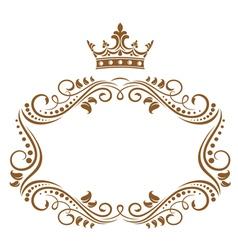 elegant royal frame vector image vector image