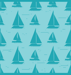 sailboat silhouettes seamless pattern design vector image vector image