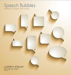 Speech Bubbles with delicate Shadows vector image vector image
