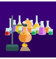 Chemistry education research laboratory equipment vector image