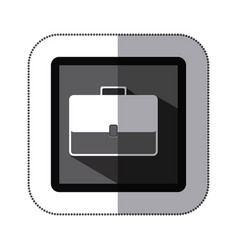 contour bag case icon vector image vector image