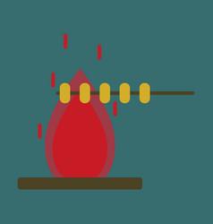 flat icon bonfire vector image