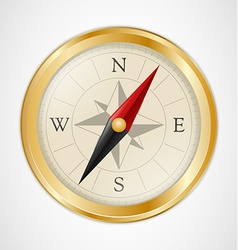 Golden Vintage Compass vector image vector image