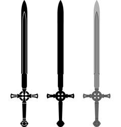 medieval sword vector image vector image
