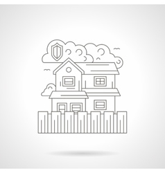 Security at home detailed line vector image
