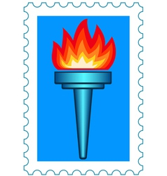 Torch stamp vector image vector image