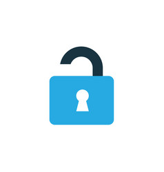 unlock colorful icon symbol premium quality vector image