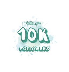 10k followers template vector