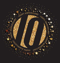 10th birthday logo vector