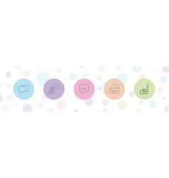 5 speech icons vector