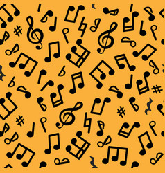 abstract music seamless pattern music notes vector image