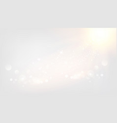 abstract rays with bokeh over gray sky glitter vector image