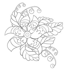 adult coloring bookpage an abstract flower image vector image