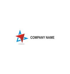arrow navigation company logo vector image
