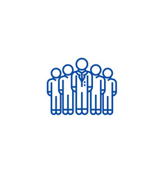 Audiencemarketing teamworkgroup line icon vector