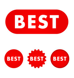 best red button vector image