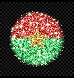 burkina faso flag sparkling badge vector image