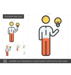 Business idea line icon vector