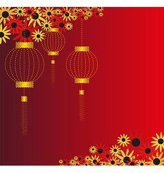 Chinese lantern background vector
