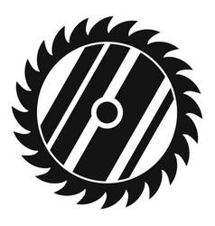 Circular saw icon simple style vector
