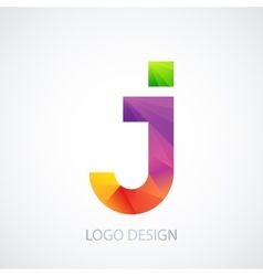 colorful logo letter j vector image