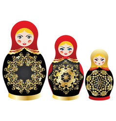 colorful matryoshka dolls vector image