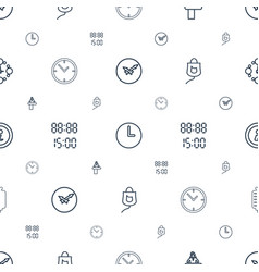 Counter icons pattern seamless white background vector