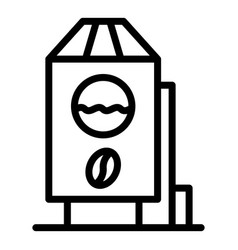 Decaf container icon outline style vector