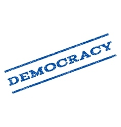 Democracy Watermark Stamp vector image