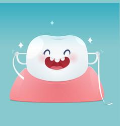 Dental floss vector