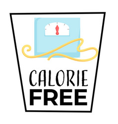 dietary food calorie free isolated icon fitness vector image