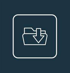 Download folder icon line symbol premium quality vector