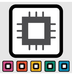 electronic chip icon vector image