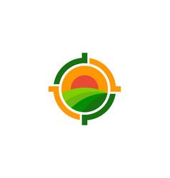 Field target logo icon design vector
