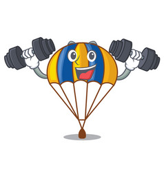 fitness parachute in the shpe of charcter vector image