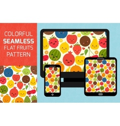 Fruits seamless pattern background Colorful vector