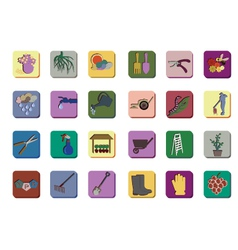 Gardenning icon set vector