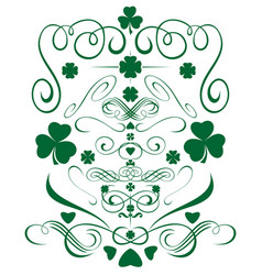 green design elements set for st patricks day vector image