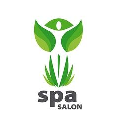 Green logo for Spa salon vector image
